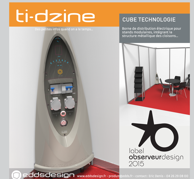 Ti-dzine Cube Technologie borne Kelipse Label de l'Observeur