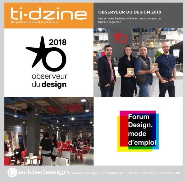 Ti-dzine Observeur Design 2018